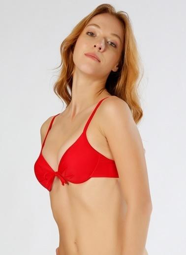 T-Box Üçgen Bikini Üstü Kırmızı